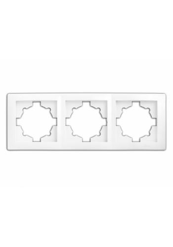 рамка WEGA 9303 3-секционная белая - (10040368) (10040368) Товары снятые с производства - интернет - магазин Моя Лампа ™