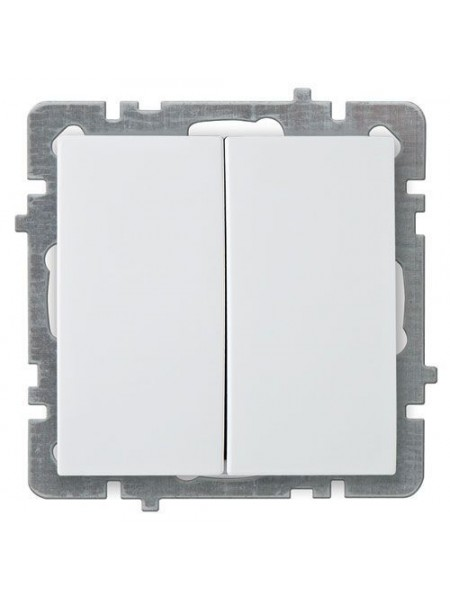 Вимикач Nilson Touran білий 2кл без рамки - (24110403) (24110403) Розетки і вимикачі - інтернет - магазині Моя Лампа ™