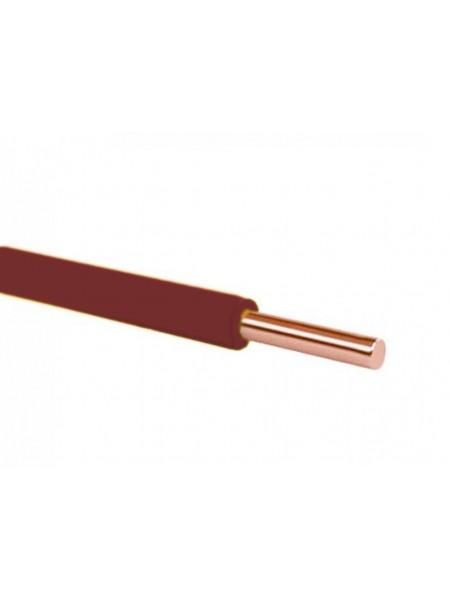 Кабель ПВ 1 - 1,5 коричневий Україна (10000001156) Кабельно-провідникова продукція - інтернет - магазині Моя Лампа ™