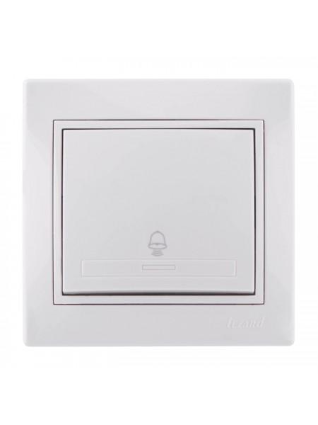 Кнопка звонка Mira701-0202-103 LEZARD белый (701-0202-103) Розетки и выключатели - интернет - магазин Моя Лампа ™
