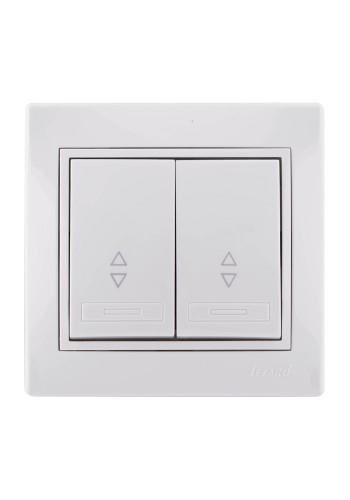 Вимикач прохідний подвійний Mira 701-0202-106 LEZARD білий (701-0202-106) Розетки і вимикачі - інтернет - магазині Моя Лампа ™