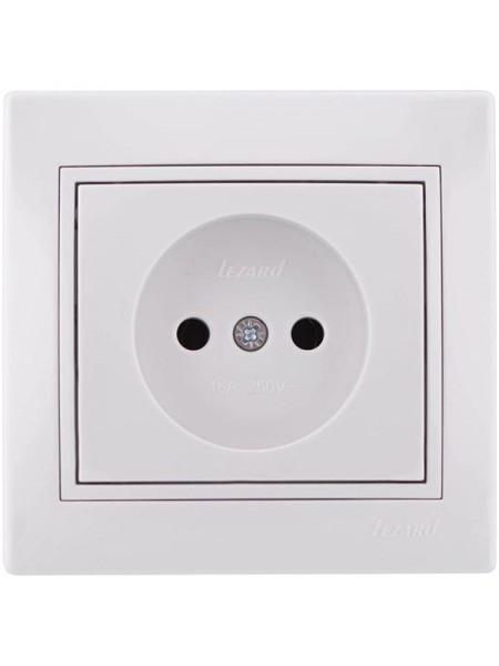 Розетка б/з  Mira701-0202-121В LEZARD белый (701-0202-121В) Розетки и выключатели - интернет - магазин Моя Лампа ™