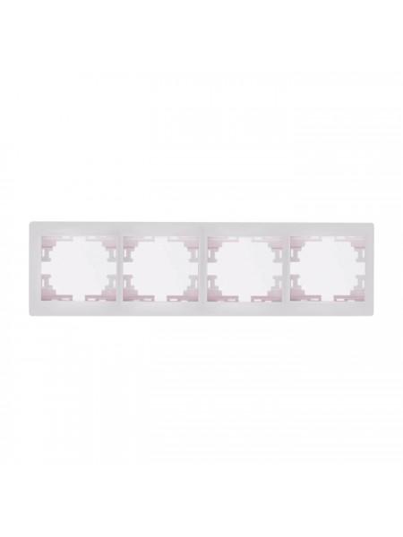 Рамка 4-ая горизонтальная б/вст Mira701-0200-149 LEZARD белый (701-0200-149) Розетки и выключатели - интернет - магазин Моя Лампа ™