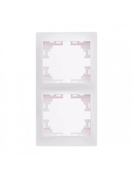 Рамка 2-ая вертикальная б/вст Mira701-0200-152 LEZARD белый (701-0200-152) Розетки и выключатели - интернет - магазин Моя Лампа ™