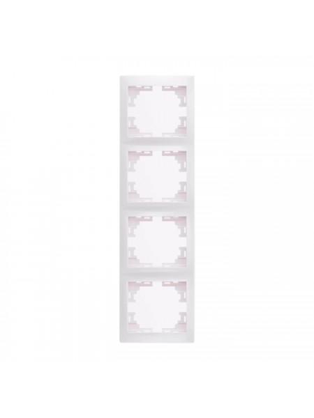 Рамка 4-ая вертикальная б/вст Mira701-0200-154 LEZARD белый (701-0200-154) Розетки и выключатели - интернет - магазин Моя Лампа ™
