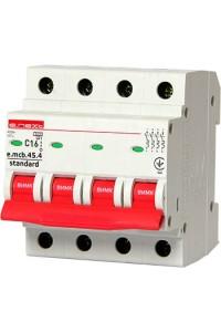 Модульный автоматический выключатель e.mcb.stand.45.4.C16, 4р, 16А, C, 4,5 кА (s002047) (s002047) Автоматические выключатели - интернет - магазин Моя Лампа ™