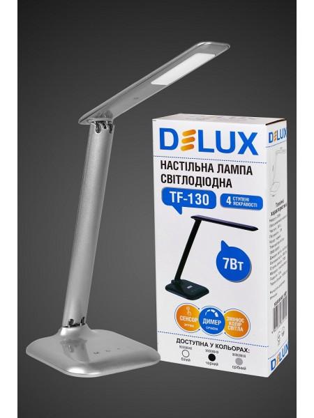 настільний світильник DELUX TF-130 7 Вт LED срібла. - (90008950) (90008950) Світильники настільні - інтернет - магазині Моя Лампа ™