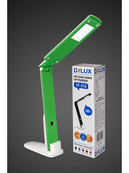 настільний світильник DELUX TF-310 5 Вт 4000К LED біло-зелений - (90008947) (90008947) Світильники настільні - інтернет - магазині Моя Лампа ™