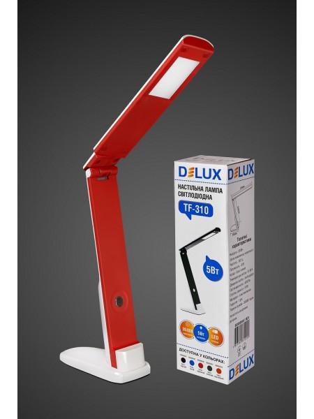 настільний світильник DELUX TF-310 5 Вт 4000К LED біло-червоний - (90008946) (90008946) Світильники настільні - інтернет - магазині Моя Лампа ™