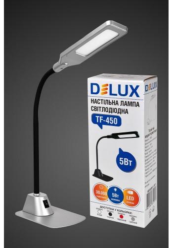 настільний світильник DELUX TF-450 5 Вт 4000K LED срібла. - (90008943) (90008943) Світильники настільні - інтернет - магазині Моя Лампа ™