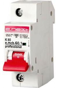 Модульный автоматический выключатель e.mcb.pro.60.1.K 80 new, 1р, 80А, K, 6кА new (p0430002) (p0430002) Автоматические выключатели - интернет - магазин Моя Лампа ™