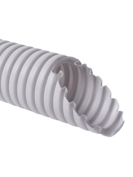 Труба гофрована  ФП 16 (100м) сірий (5704057040) Труба гофрована - інтернет - магазині Моя Лампа ™
