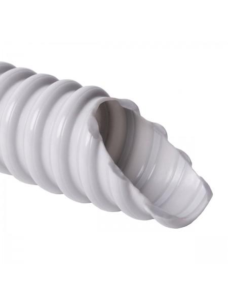 Труба гофрована  ФП 25 посилена біла (100м) (5704057046) Труба гофрована - інтернет - магазині Моя Лампа ™