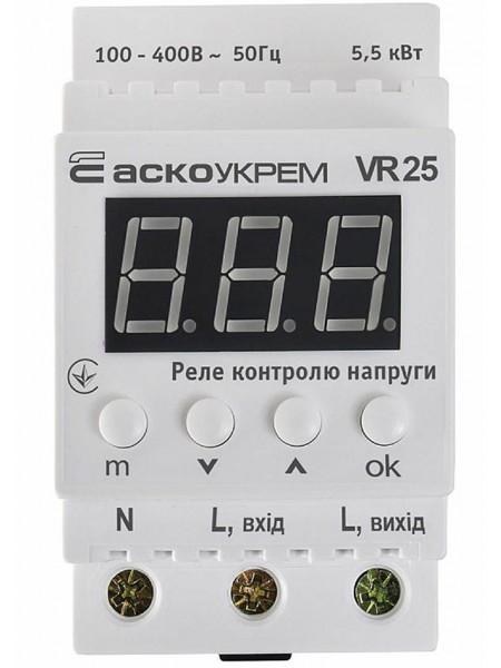Реле напряжения 1ф 25А VR25 термозах. АСКО (A0090030014) Средства защиты от перенапряжения - интернет - магазин Моя Лампа ™
