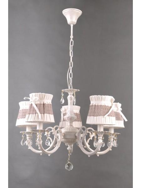 люстра COLORS MD38422/5 5x40W E14 белый/ткань (90007383) Светильники декоративные - интернет - магазин Моя Лампа ™