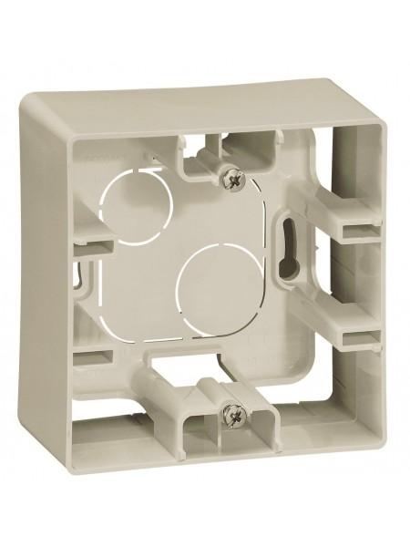 Коробка для накладного монтажу 1-постова Слонова кістка 672520 Legrand Etika (672520) Etika - интернет - магазин Моя Лампа ™
