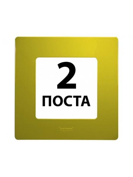 Рамки 2 пости Зелений папороть 672542 Legrand Etika (672542) Etika - интернет - магазин Моя Лампа ™