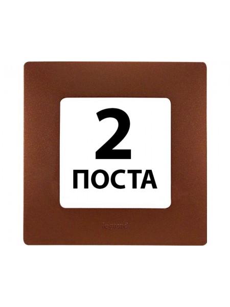 Рамки 2 пости Какао 672 572 Legrand Etika (672572) Etika - интернет - магазин Моя Лампа ™