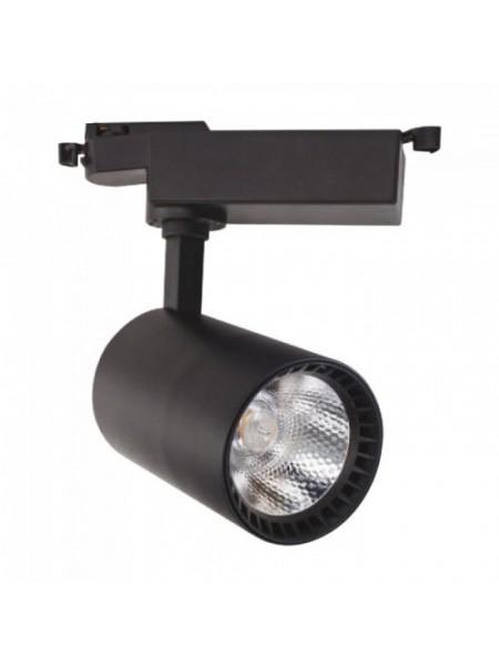 Світильник трековй LYON-18 COB LED 18W 4200K (чорний) lm  180-240V (018-020-0018_2) Трекові системи - інтернет - магазині Моя Лампа ™