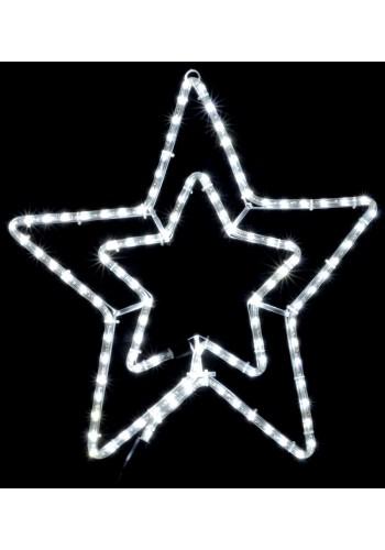гирлянда внеш DELUX MOTIF Star 54см белый IP44 EN - (90009088) (90009088) Гирлянды - интернет - магазин Моя Лампа ™