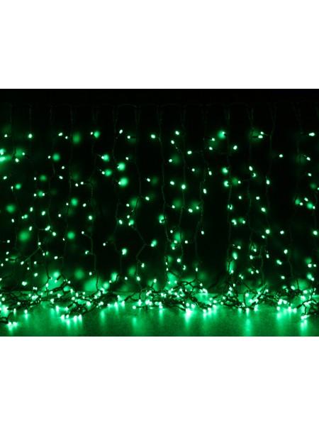 Curtain (штора) чорний кабель - 456 LED 2х1,5м - зелений