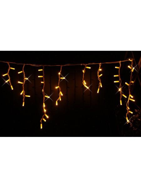 Icicle (бахрома) Flicker / Flash (мерехтіння, флеш) білий кабель - 90 LED 2.0х0.5м - жовтий (10203022) Гирлянды - интернет - магазин Моя Лампа ™