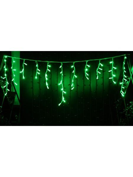 Icicle (бахрома) Static (статичний, без мигання) білий кабель - 90 LED 2.0х0.5м - зелений (10203010) Гирлянды - интернет - магазин Моя Лампа ™