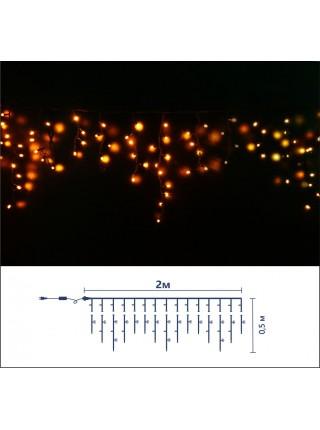 Icicle (бахрома) Static (статичний, без мигання) чорний кабель - 90 LED 2.0х0.5м - жовтий (10203003) Гирлянды - интернет - магазин Моя Лампа ™