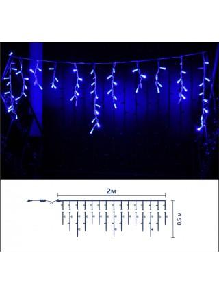 Icicle (бахрома) Static (статичний, без мигання) білий кабель - 90 LED 2.0х0.5м - синій (10203012) Гирлянды - интернет - магазин Моя Лампа ™