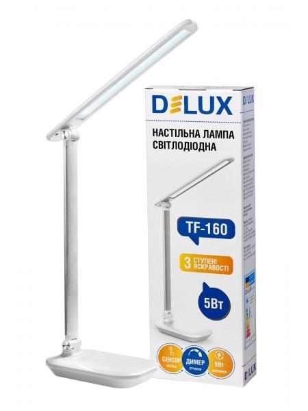 світильник настільний DELUX TF-160 (CT 101-TL) 5 Вт LED білий - 90015754 (90015754) Світильники настільні - інтернет - магазині Моя Лампа ™