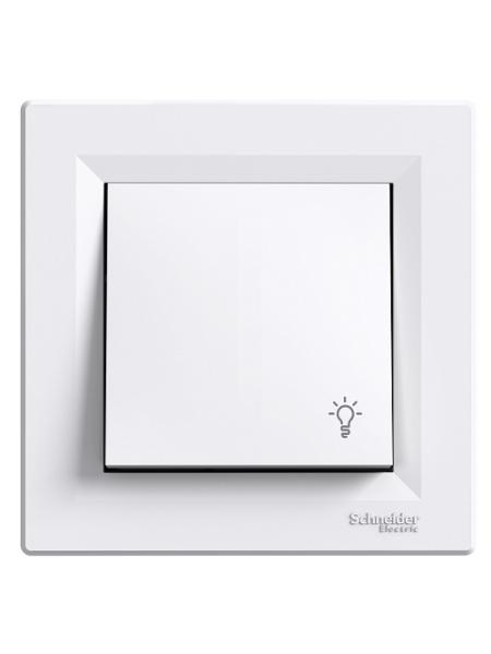 """выкл SCHNEIDER ASFORA EPH0900121 1кл. кнопка """"свет"""" белая (EPH0900121) Розетки и выключатели - интернет - магазин Моя Лампа ™"""