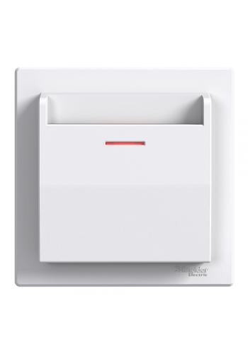 выкл SCHNEIDER ASFORA EPH6200121 карточный белый (EPH6200121) Розетки и выключатели - интернет - магазин Моя Лампа ™