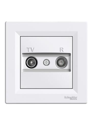 роз SCHNEIDER ASFORA EPH3300121 TV-R концевая (1 дБ) белая (EPH3300121) Розетки и выключатели - интернет - магазин Моя Лампа ™