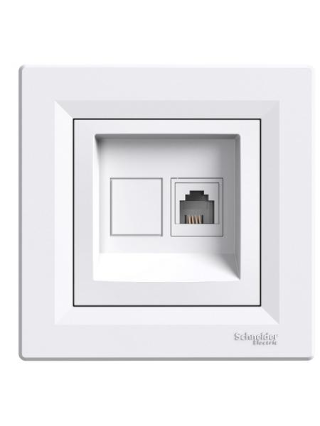 роз SCHNEIDER ASFORA EPH4100121 TF RJ11 белая (EPH4100121) Розетки и выключатели - интернет - магазин Моя Лампа ™