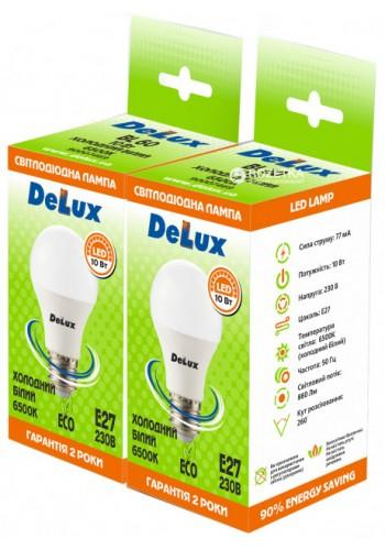 светодиодная лампа DELUX BL 60 10Вт 6500K 220В E27 (промо 2 шт.) - (90009257) (90009257) Товары снятые с производства - интернет - магазин Моя Лампа ™