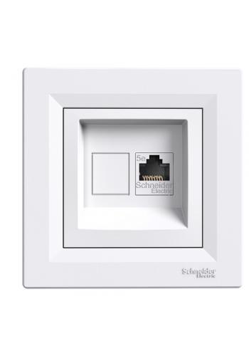 роз SCHNEIDER ASFORA EPH4300121 комп.RJ45,кат.5e белая (EPH4300121) Розетки и выключатели - интернет - магазин Моя Лампа ™
