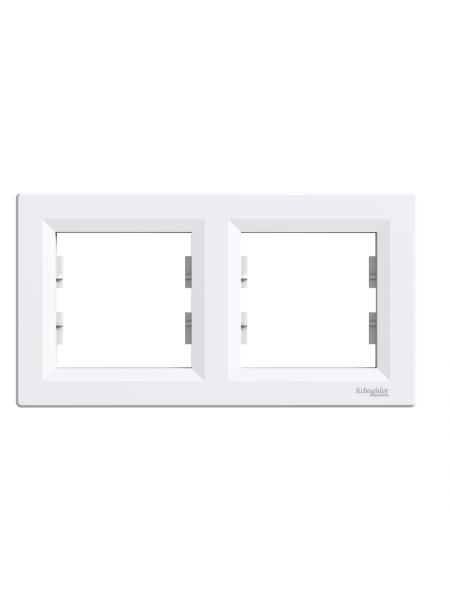 эл.рамка SCHNEIDER ASFORA EPH5800221 2-я горизонт.белая (EPH5800221) Розетки и выключатели - интернет - магазин Моя Лампа ™