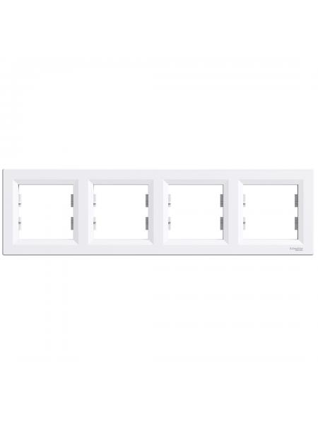 эл.рамка SCHNEIDER ASFORA EPH5800421 4-я горизонт.белая (EPH5800421) Розетки и выключатели - интернет - магазин Моя Лампа ™