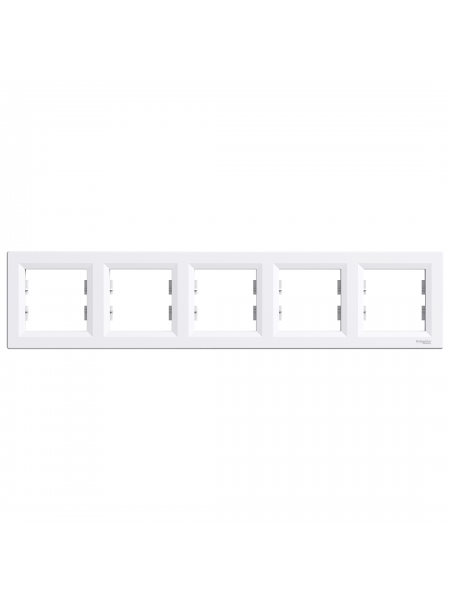 эл.рамка SCHNEIDER ASFORA EPH5800521 5-я горизонт.белая (EPH5800521) Розетки и выключатели - интернет - магазин Моя Лампа ™