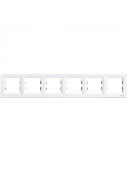 эл.рамка SCHNEIDER ASFORA EPH5800621 6-я горизонт.белая (EPH5800621) Розетки и выключатели - интернет - магазин Моя Лампа ™