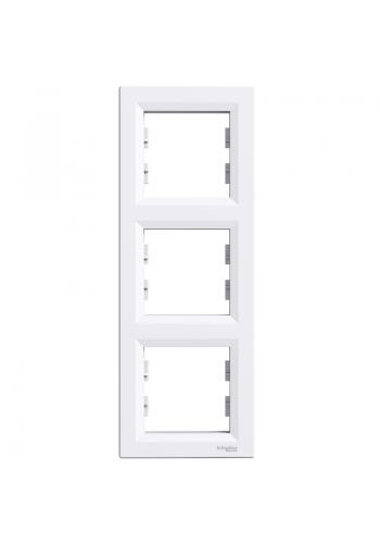 эл.рамка SCHNEIDER ASFORA EPH5810321 3-я вертик. белая (EPH5810321) Розетки и выключатели - интернет - магазин Моя Лампа ™