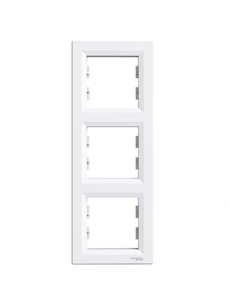 ел.рамка SCHNEIDER ASFORA EPH5810321 3-а вертик. біла (EPH5810321) Розетки і вимикачі - інтернет - магазині Моя Лампа ™