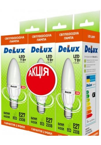 светодиодная лампа DELUX BL37B 7Вт 4100K 220В E14 (промо 3 шт.) - (90005346) (90005346) Товары снятые с производства - интернет - магазин Моя Лампа ™