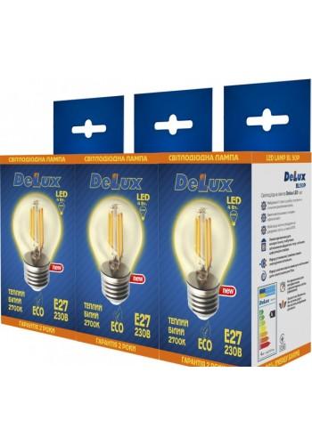 светодиодная лампа DELUX BL50P 4Вт filam.2700K 220В E27 (промо 3 шт.) - (90005649) (90005649) Товары снятые с производства - интернет - магазин Моя Лампа ™