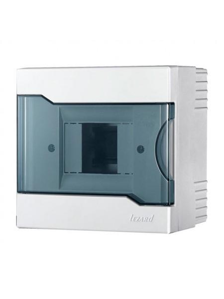 Бокс з прозорою кришкою ЩРН-П-4 для зовнішньої установки 4-х модульних пристроїв IP40 155x148x92 - (730-2000-004) (730-2000-004) Бокси пластикові під автомати - інтернет - магазині Моя Лампа ™