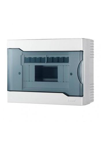 Бокс с прозрачной крышкой ЩРН-П-8 для наружной установки 8-и модульных устройств IP40 236x182x92 - (730-2000-008) (730-2000-008) Боксы пластиковые под автоматы - интернет - магазин Моя Лампа ™