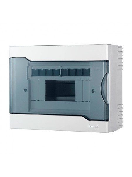 Бокс з прозорою кришкою ЩРН-П-8 для зовнішньої установки 8-й модульних пристроїв IP40 236x182x92 - (730-2000-008) (730-2000-008) Бокси пластикові під автомати - інтернет - магазині Моя Лампа ™