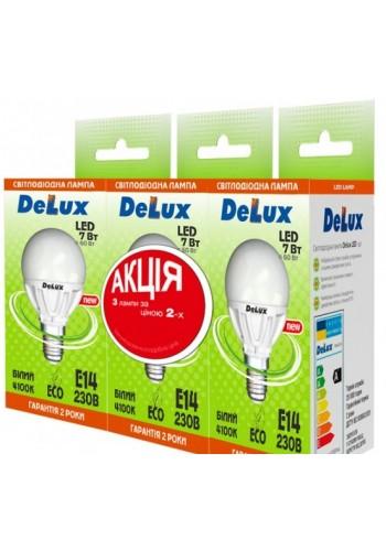 светодиодная лампа DELUX BL50P 7Вт 4100K 220В E27 (промо 3 шт.) - (90005356) (90005356) Товары снятые с производства - интернет - магазин Моя Лампа ™