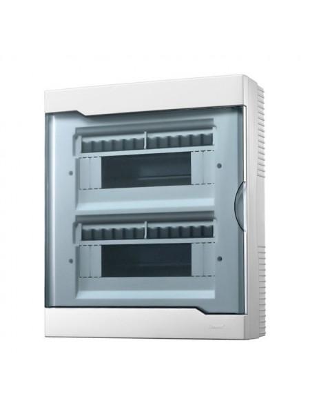 Бокс з прозорою кришкою ЩРН-П-24 для зовнішньої установки 24-і модульних пристроїв IP40 - (730-2000-024) (730-2000-024) Бокси пластикові під автомати - інтернет - магазині Моя Лампа ™