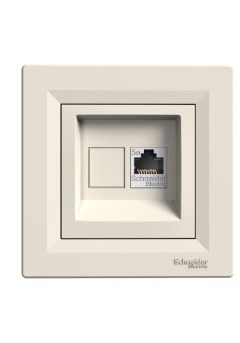 роз SCHNEIDER ASFORA EPH4300123 комп.RJ45,кат.5e крем (EPH4300123) Розетки и выключатели - интернет - магазин Моя Лампа ™